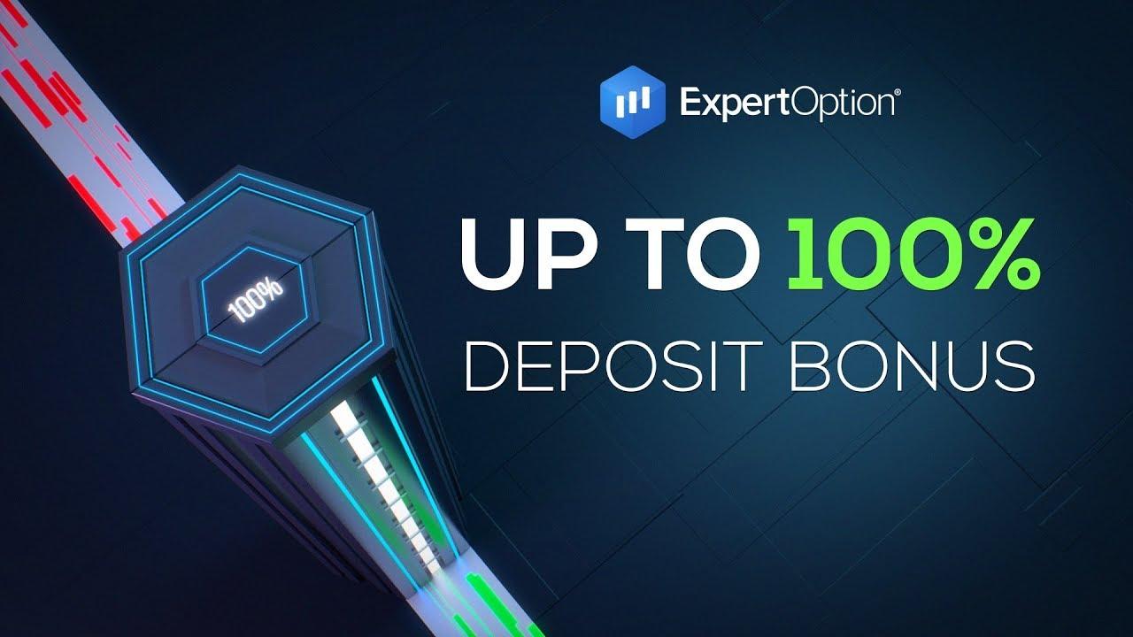 ExpertOption تبلیغات خوش آمدید - 100٪ پاداش سپرده تا 500 دلار