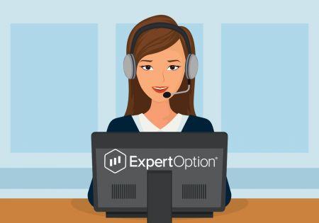 نحوه تماس با پشتیبانی ExpertOption