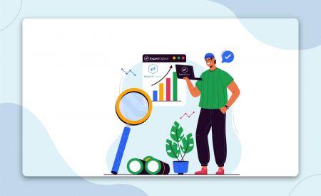 نحوه ثبت نام و شروع تجارت با یک حساب نمایشی در ExpertOption