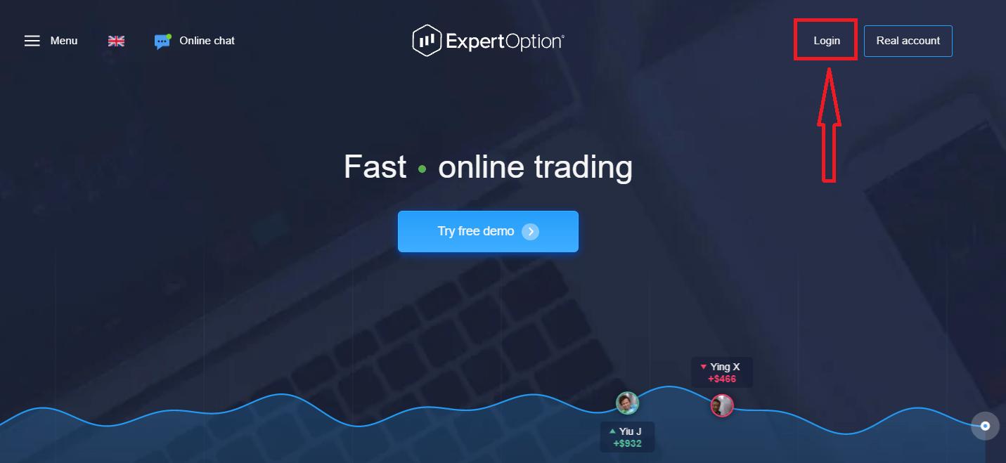 نحوه ورود و شروع تجارت گزینه های دودویی در ExpertOption
