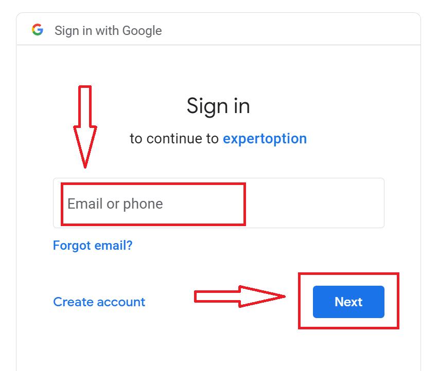 نحوه باز کردن حساب و ورود به ExpertOption