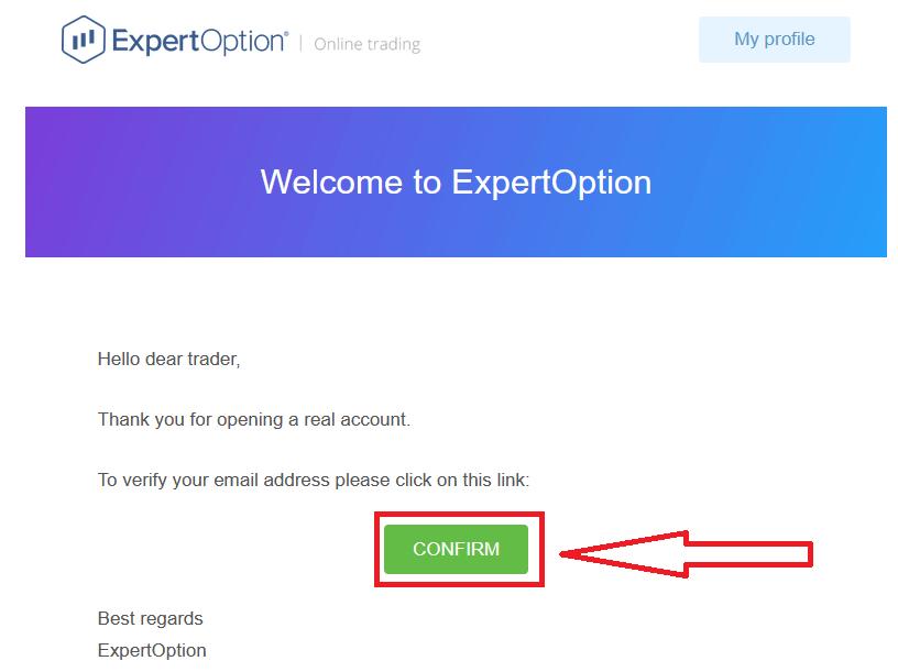 نحوه تأیید حساب در ExpertOption
